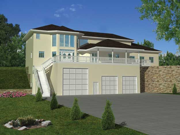 Contemporary House Plan With 2717 Square Feet, 2 Bedroom