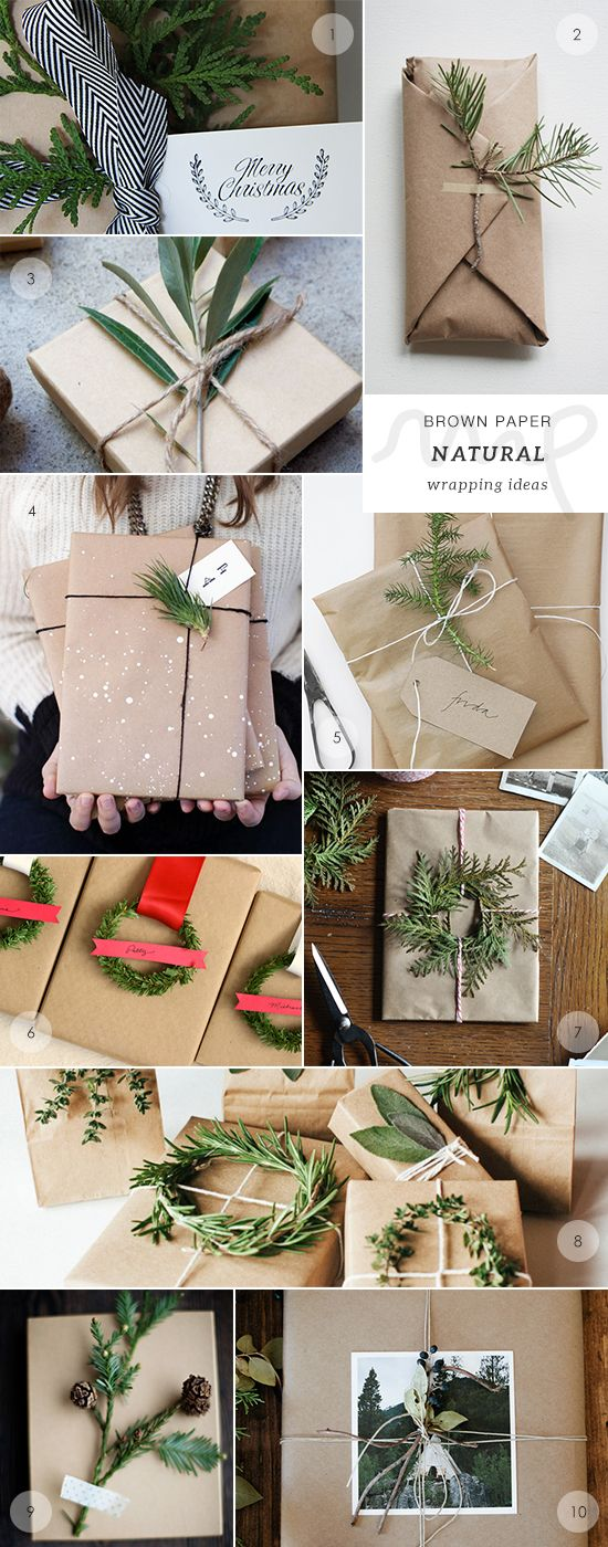 40 brown paper gift wrapping ideas picks by My Paradissi- the naturals: