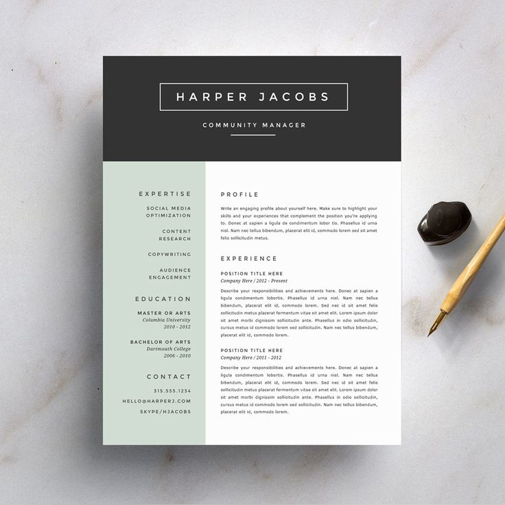 1000 ideas about resume fonts on pinterest resume cv template