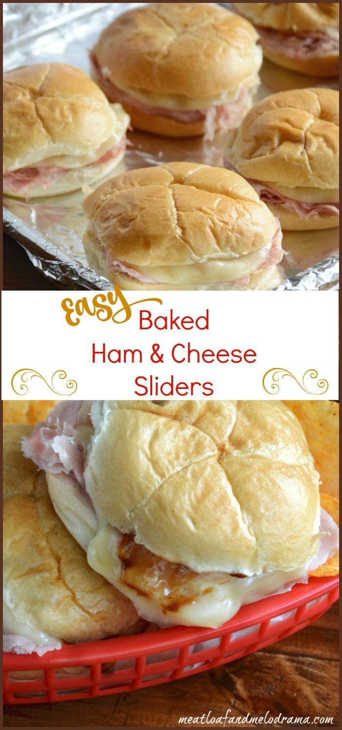 Easy baked ham and cheese sliders are made with deli ham and provolone cheese and