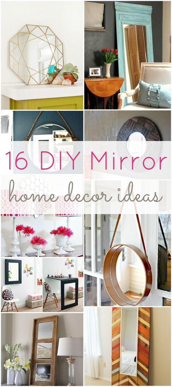 16 DIY Mirror Home Decor Ideas Do it yourself, You will