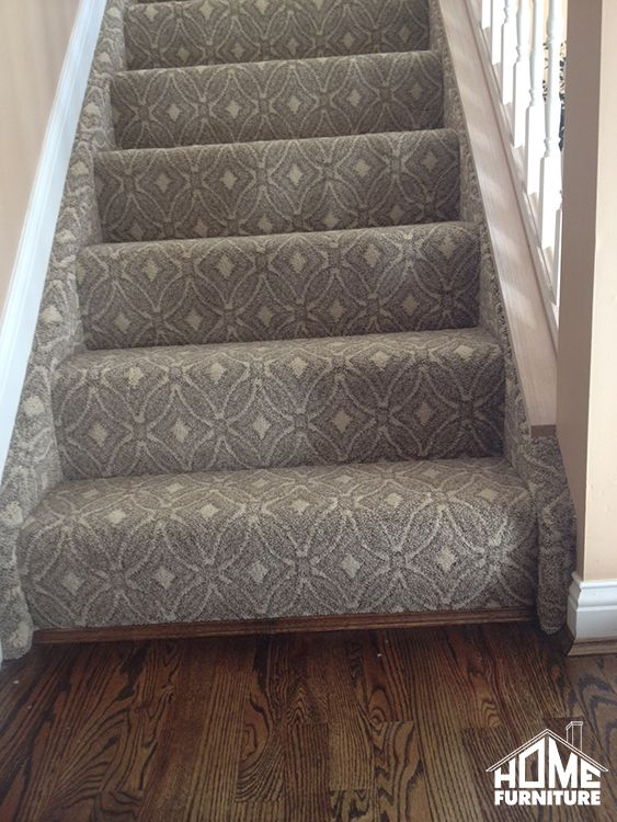 Pattern Carpet Wrapped Stairs With A Sanding Amp Refinish On Existing Hardwood HomeFurnitureIN