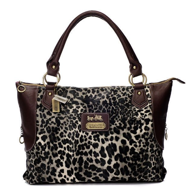 #Coach #Purses Fashionable And Cheap Coach Leopard Fur Large Coffee Totes BAJ Lets Your Life Full Of Laugh And