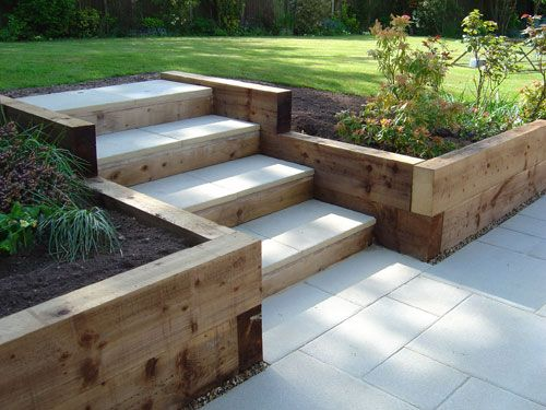Garden Steps Using Railway Sleepers Garden And Landscape