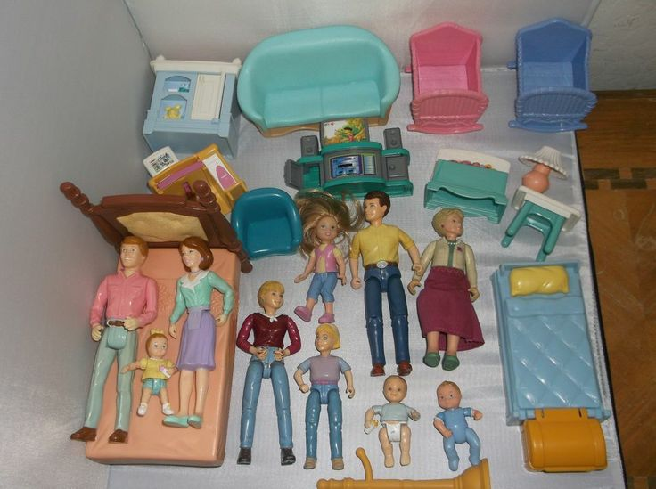 Large LOT FISHER PRICE Playskool LOVING FAMILY DOLL HOUSE