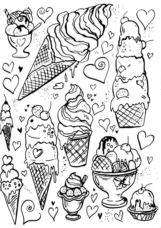 ice cream coloring pages on pinterest printable colouring pages