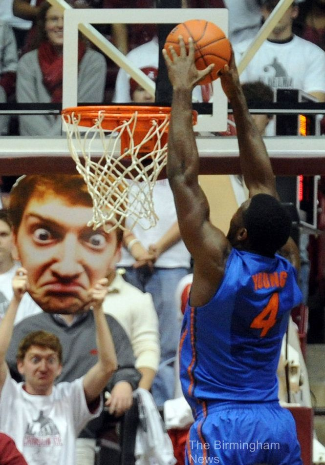 Hilarious..trying to scare the opposing team with your face