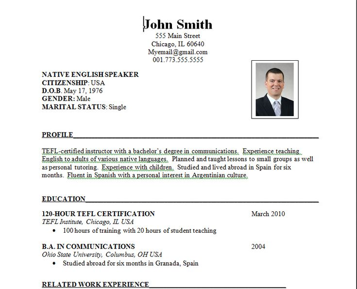 Resume For Overseas Job job resume resume and teaching overseas on pinterest