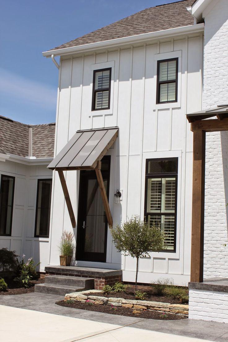 Black trim, White houses and Window on Pinterest
