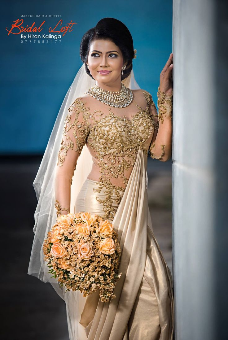 Sri Lankan Bride Sri Lankan Weddings Pinterest Saree
