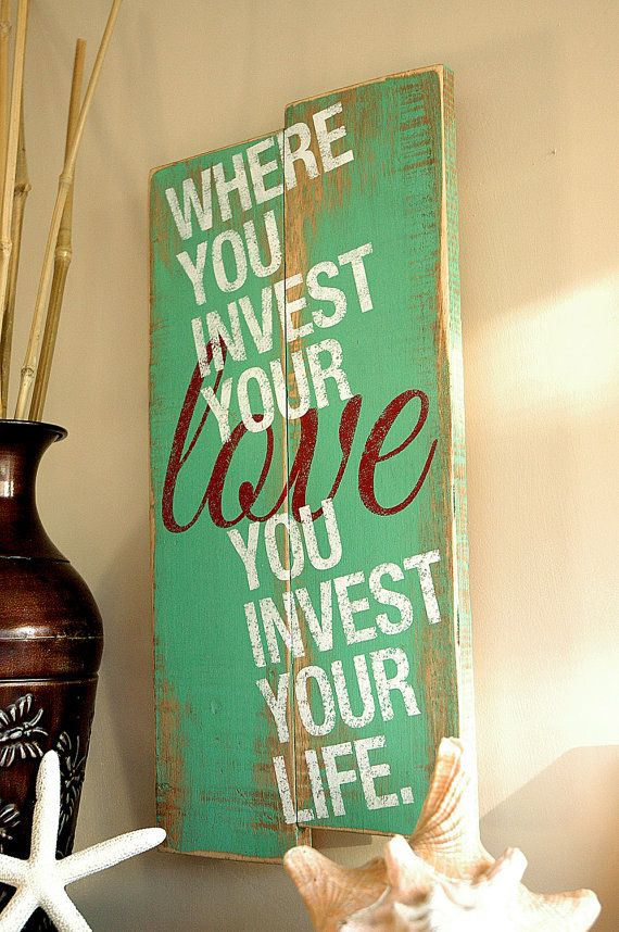 Love Quote on Wood