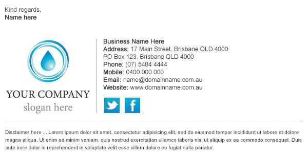 Email Signature Template 8 corporate email signature templates – Sample Email Signature