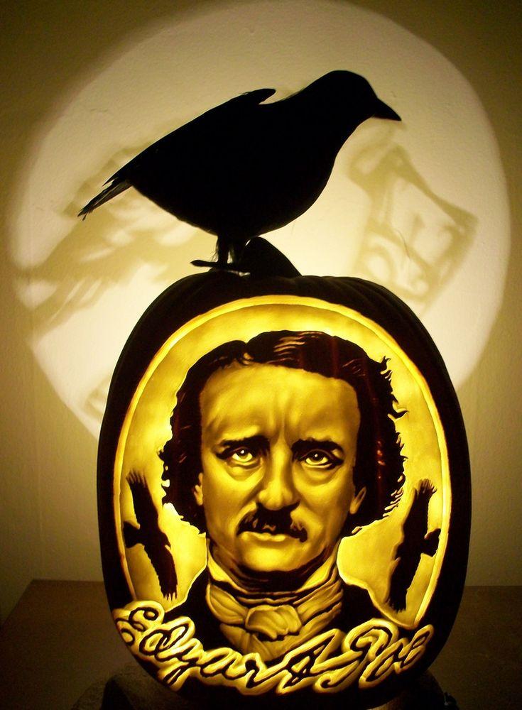 Dan Sczcepanskis Edgar Allan Poe pumpkin .