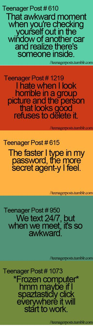 teenager posts | An LOL Teenage Moment | The Average Girl's Guide