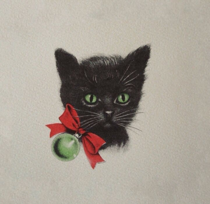 17 Best Images About Vintage Christmas Cats On Pinterest