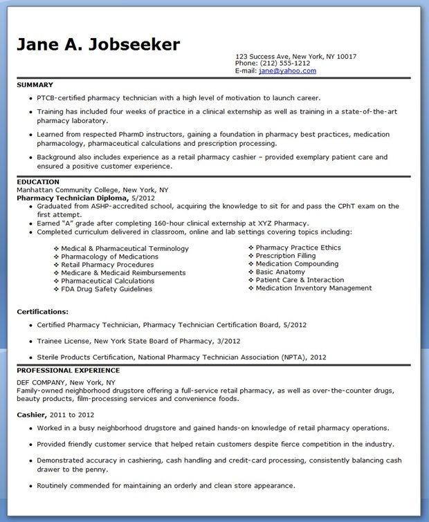 Pharmacy Student Resume. Pharmacist Resume Example 2016 Sample