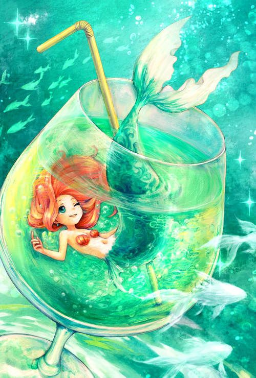 Pretty Mermaid Drawings