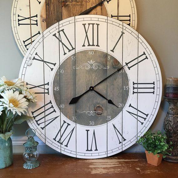 25 Best Ideas About Farmhouse Clocks On Pinterest Cute