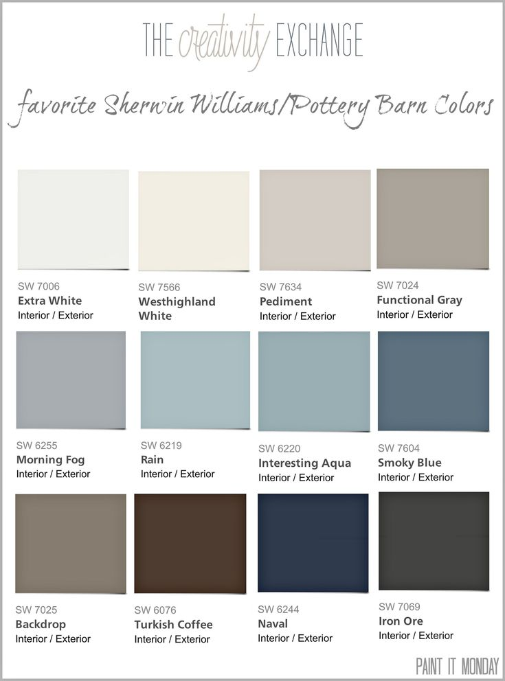 Favorite Pottery Barn Paint Colors 2014 Collection Paint