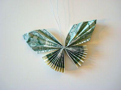 Tutorial On Folding Dollar Bills Into A Butterfly