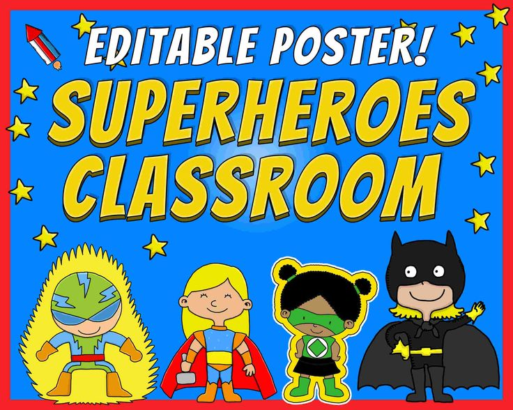 Editable Poster This Is The Superheroes Classroom