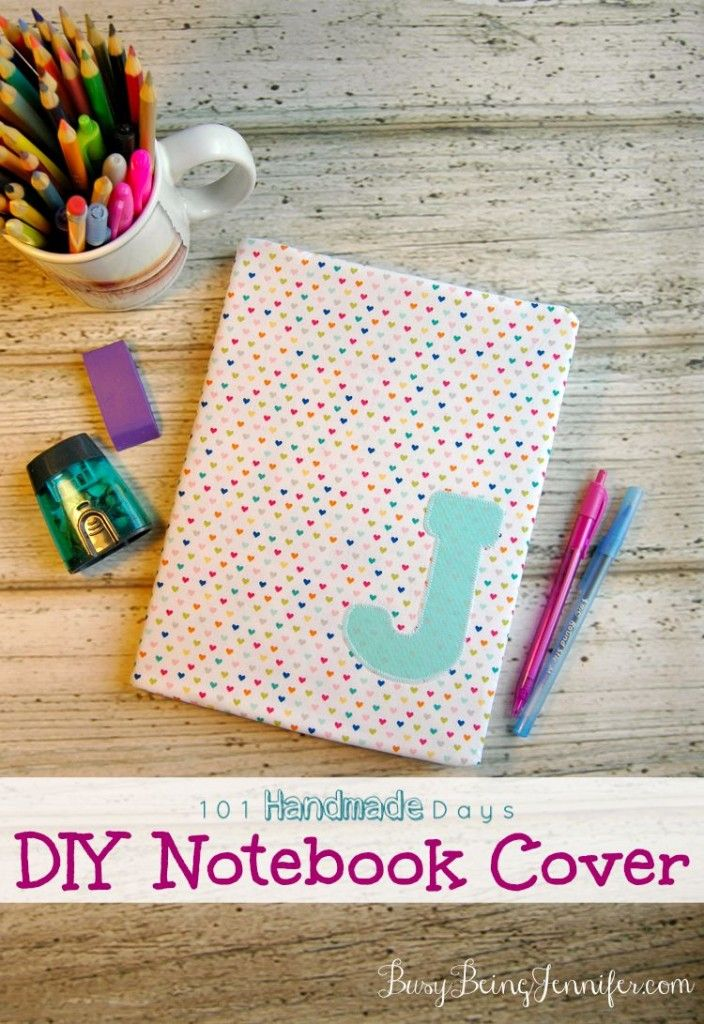 101 Handmade Days DIY Notebook Cover Notebook covers