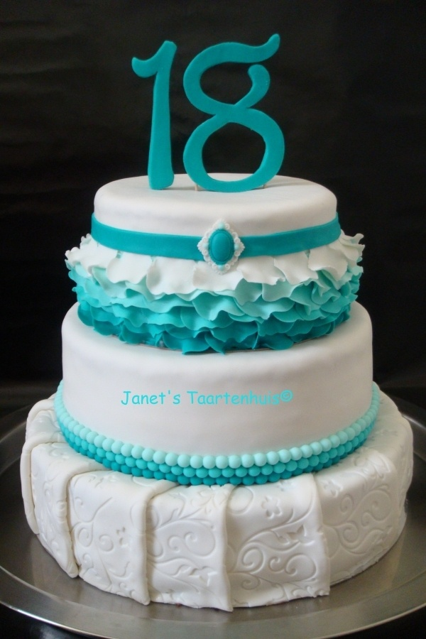 1000 Images About Ombre Cakes On Pinterest Teal Cake