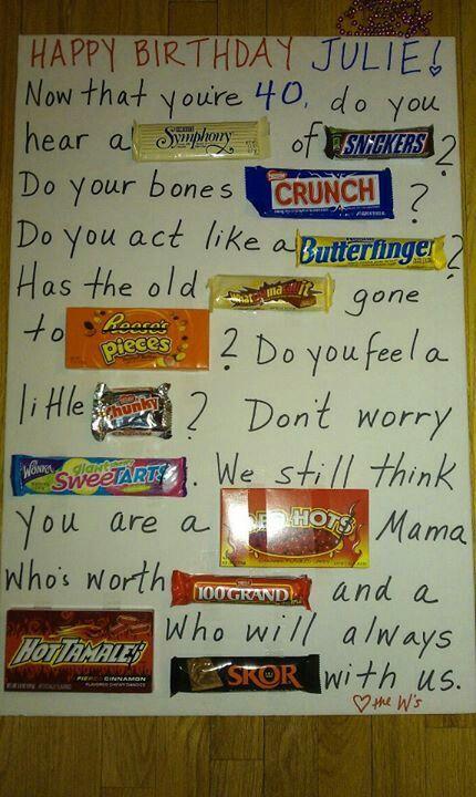 Candy Bar Poem Diy Gifts Pinterest Birthdays Candy