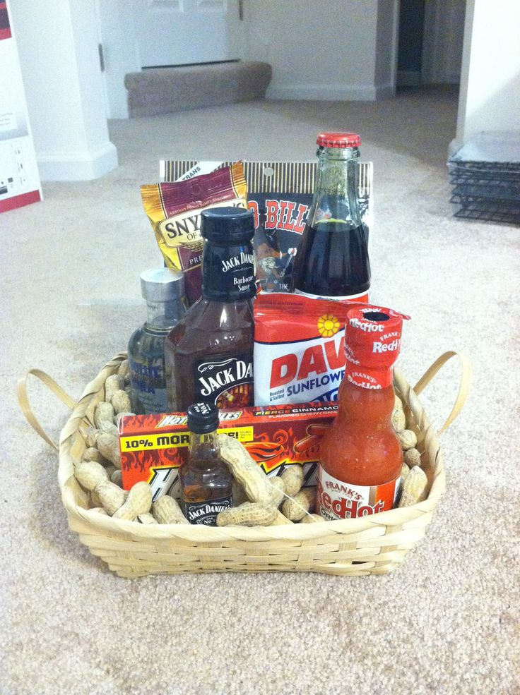 """Man Baskets"" as groomsmen gifts Fall Wedding"