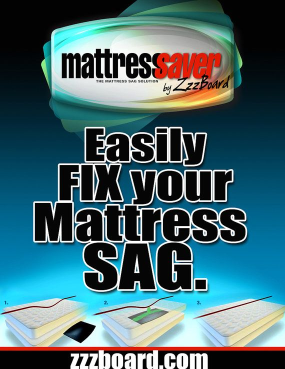 Mattress Saver By Zzzboard Is The Solution To Fix Your Sagging