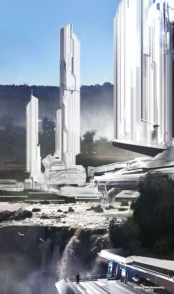 Concept Art By Dmitry Vishnevsky Scifi Architecture