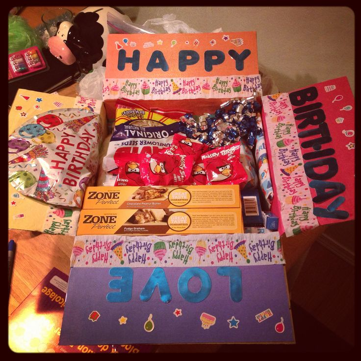 Happy birthday care package ) The crazy wife