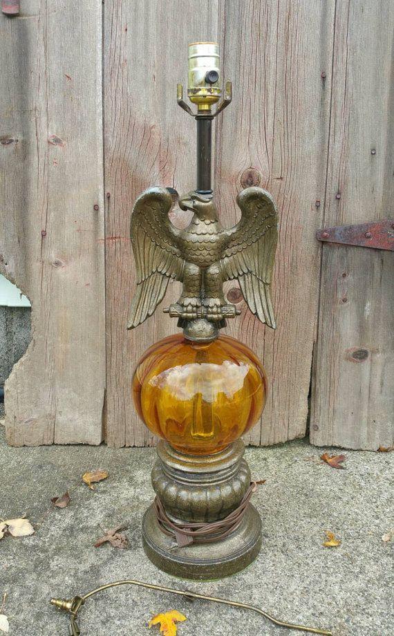 Vintage Eagle Lamp Mid Century Eagle Lamp Americana