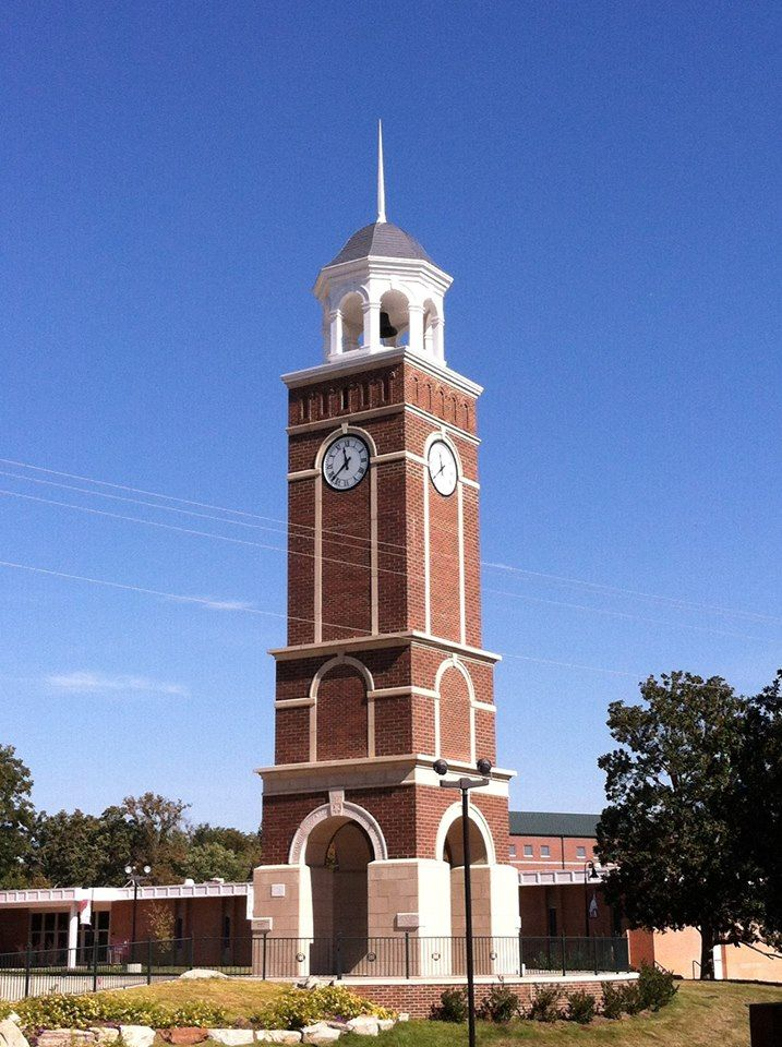 Clock tower FreedHardeman University Tick Tock Says the