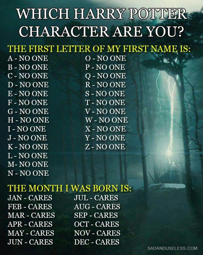 Your Harry Potter Name HMMMMMM.... Pinterest Names