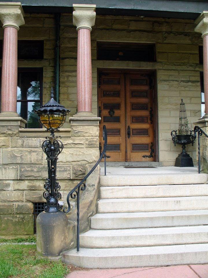 9 Best Front Step Railings Images On Pinterest | Steel Handrails For Concrete Steps