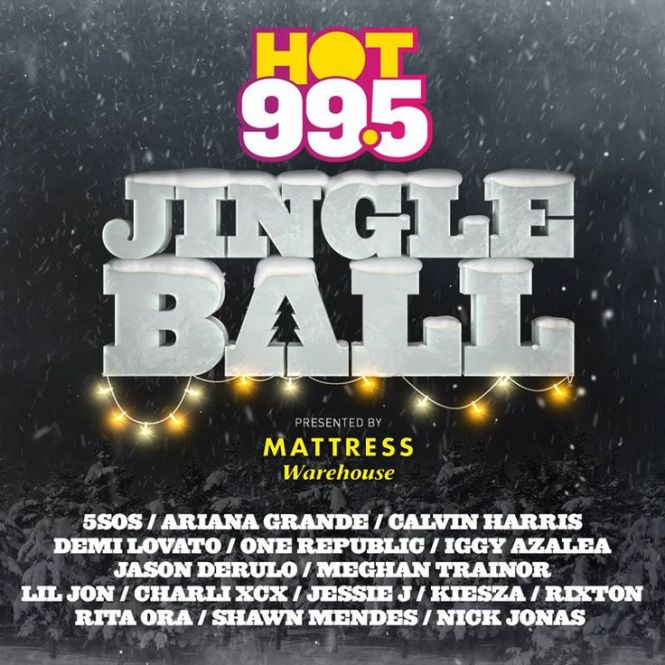 Mattress Warehouse Is Proudly Presenting Hot 99 5 S Jingle Ball At The