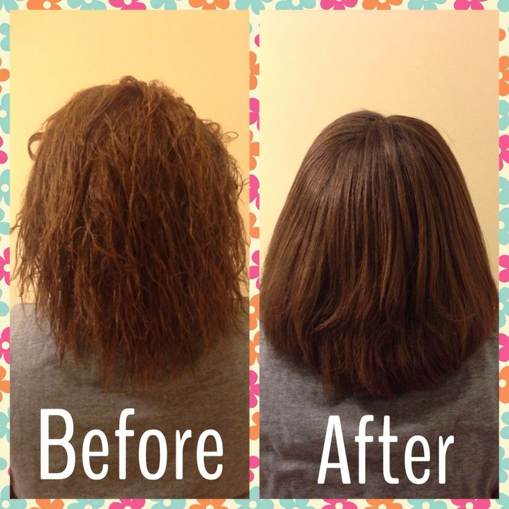 My Results Before Amp After Picture Using John Frieda Frizz
