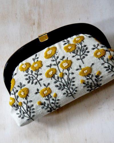 Yellow Flower Clutch   yumiko higuchi
