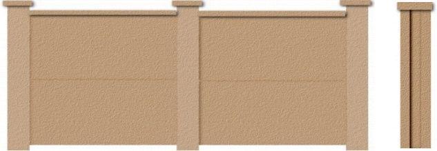 Veneer Stucco Brick Fence