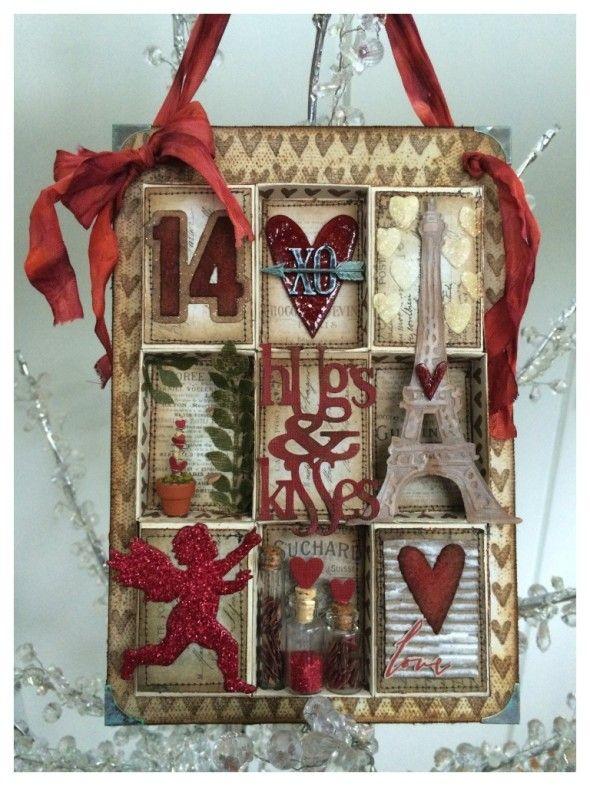 IGIRLZOE Tim Holtz Matchbox Valentine Collage Sizzix