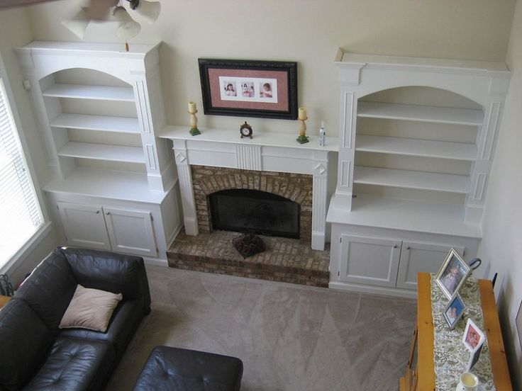 10 Best Images About Built In Bookshelves Around Fireplace