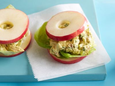 Get this all-star, easy-to-follow Curried Chicken Salad on Apple Rounds recipe from Food Network Kitchen.