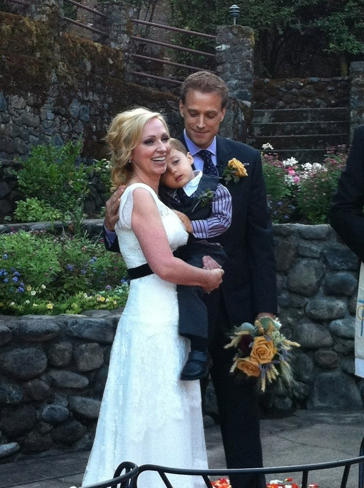 leigh allyn baker, her husband, baby awesome! Good luck