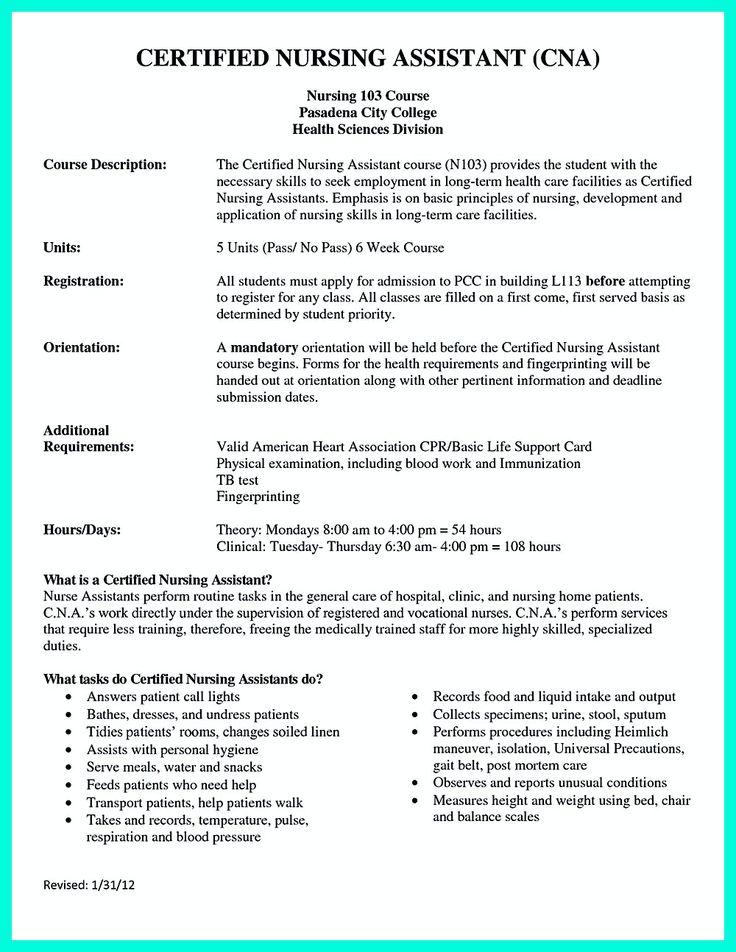 certified nurse assistant resume template