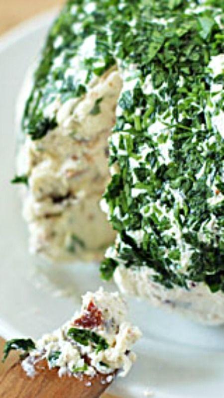 Parmesan-Cream Cheese Ball Recipe ~ crowd pleasing