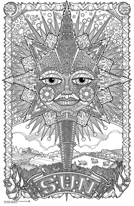 Psychedelic Coloring Pages Pesquisa Do Google Coloring