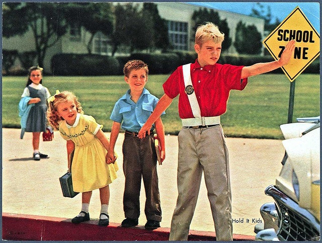 The Safety Patrol. This photo is probably from the 60s, a