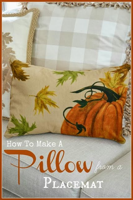 HOW TO MAKE A PILLOW FROM A PLACEMAT – StoneGable