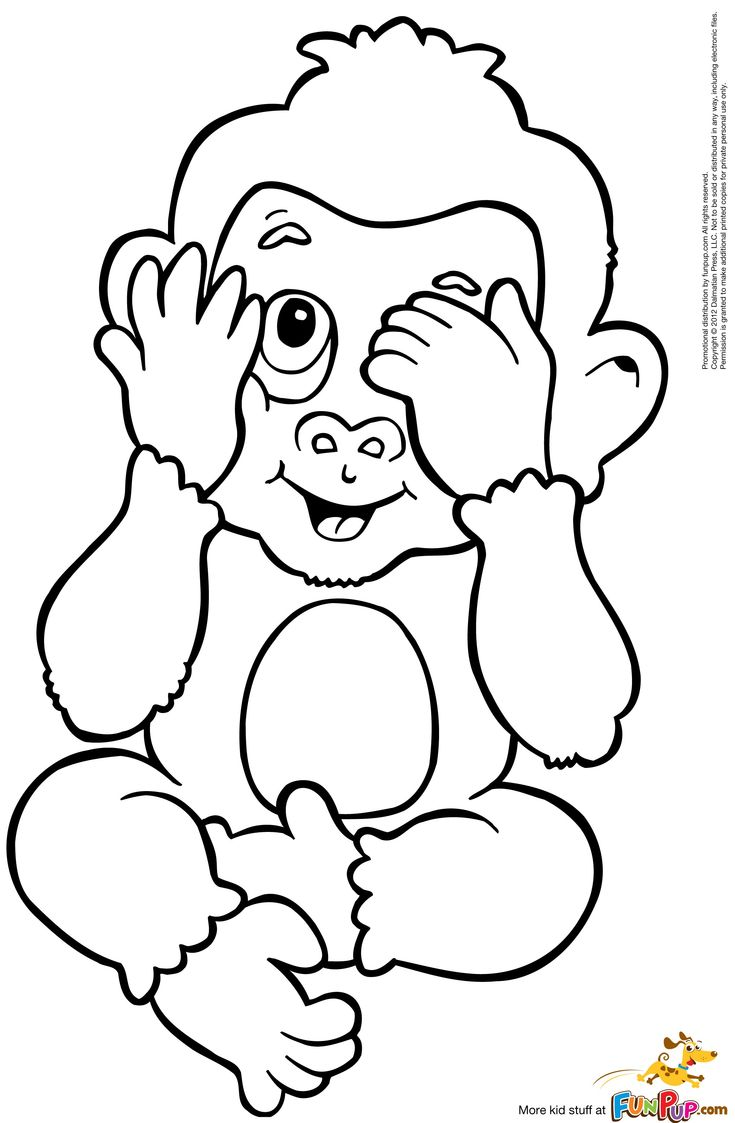 peek a boo monkey 0 00 coloring pages embroidery clip art